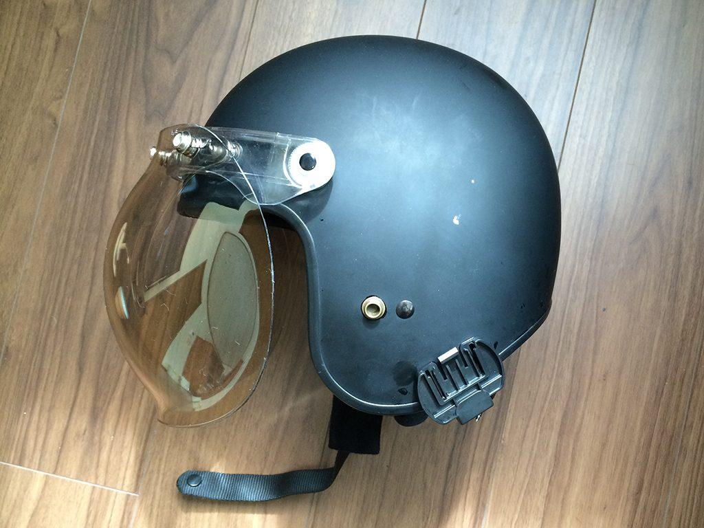 ジェットヘルメットにMORTERHEADのバブルシールドを装着